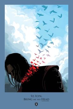 Ned Stark's beheading - HBO and 360i joined forces to create beautiful posters of the Game of Thrones deaths.