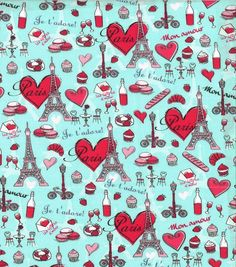 Novelty Cotton Fabric - French Love