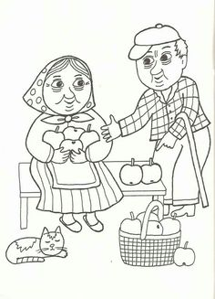 Mela babka... Book Activities, Preschool Activities, Happy Together, Grandparents Day, Free Coloring Pages, Painting Patterns, Drawing For Kids, Kids And Parenting, Adult Coloring