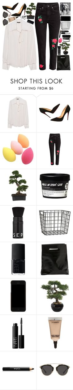 """"""".."""" by imthinkinginyou on Polyvore featuring moda, Plein Sud, Christian Louboutin, Nearly Natural, Sephora Collection, H&M, NARS Cosmetics, Marie Turnor, Dolce&Gabbana y MAC Cosmetics"""