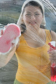 Clean Window Recipes ~ I like:  Recipe  3 TBS lemon juice (freshly squeezed)  2 cups club soda (you can use water too or a mix of water and club soda but I prefer 100% club soda)  1 tsp cornstarch  Pour everything into a spray bottle then shake well before using.