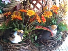 Hanging Bird Baskets - $25 for the pair