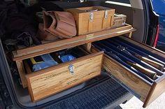 Pickup bed gun/gear storage.