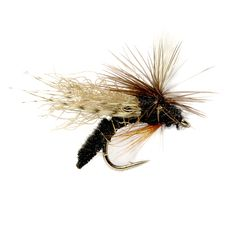 6 x Tent Wing Caddis Parachute Dry Fly Fishing Flies For Trout Salmon