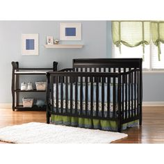 Graco - Stanton 4-in-1 Convertible Fixed-side Crib, Espresso