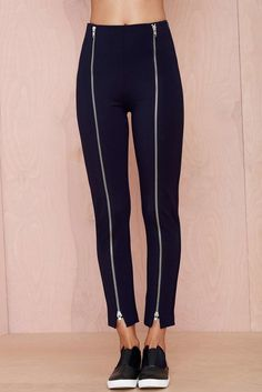 Nasty Gal Ananda Zipper Leggings ($68)