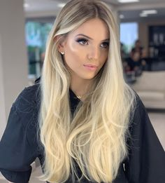 Human hair lace front real quality human hair wigs for caucasian Blonde Hair Looks, Blonde Wig, Blonde Hair With Dark Roots, Pretty Hairstyles, Wig Hairstyles, Platinum Blonde Hair, Hair Images, Balayage Hair, Human Hair Wigs