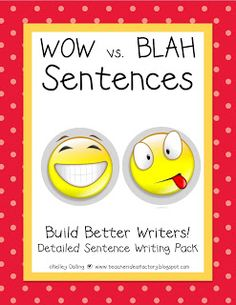 Such a cute way to get kiddos writing better sentences