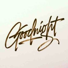 """""""Good night, and have a pleasant tomorrow..."""""""