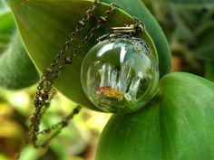 Glass Sphere Quartz Cluster Pendant by ThePurpleArtichoke7 on Etsy