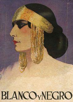 Blanco Y Negro  1929 1920s Spain Cc Drawing  - Blanco Y Negro  1929 1920s Spain Cc Fine Art Print