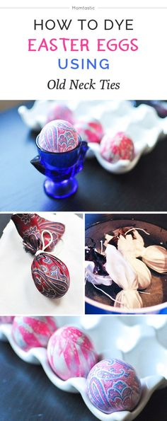 How to dye Easter eggs using old neck ties!