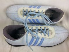 Adidas FitFoam Golf Shoes Cleats Light Blue Ladies Size 8 1/2 #Adidas