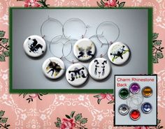 INK BLOTS psychology psychiatry test Set of 6 Altered Art Button WINE Glass Charms w/ Rhinestone https://www.etsy.com/listing/113741453/ink-blots-psychology-psychiatry-test-set?ref=shop_home_active_6