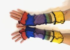 Unique Arm Warmers for Women  Fingerless Gloves  by malibuquilts, $20.00