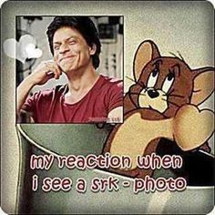 Embedded image permalink- My reaction when I see an SRK photo. King Of My Heart, King Of Hearts, Weird Facts, Fun Facts, Shah Rukh Khan Quotes, Funny Mind Tricks, Funny Quotes, Funny Memes, Sr K