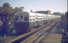 """The old """"L"""" trains from the 80's.-Chicago"""