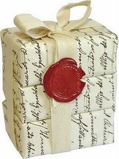 Love this gift wrapping idea.