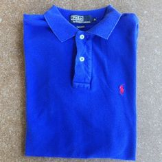 Mens royal blue polo Great condition guys ralph lauren golf polo. Nice color with red polo player stitching. Polo by Ralph Lauren Tops Button Down Shirts