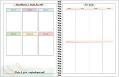 Free year planner with new year's resolution tracker