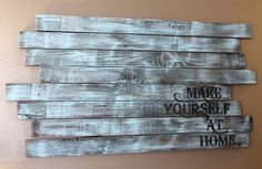 old fence wood sign dry brushed and stenciled. LIKE
