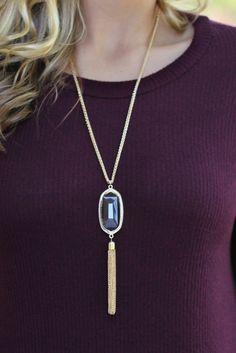 Lavish Boutique - The Perfect Tassel Necklace: Clear Grey, $26.00 (http://lavishboutique.com/the-perfect-tassel-necklace-clear-grey/)