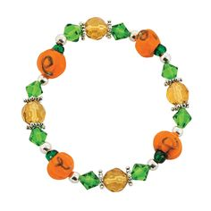 Fall Pumpkin Bracelet Kit - OrientalTrading.com