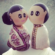 Cute Indian Wedding Cake Toppers!