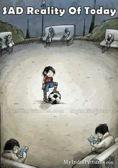 Sad reality of today facebook and mobile addiction