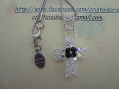 cruz com cristais swarovski
