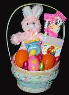 Reese easter 3499 a large easter basket filled with a white and pink bunny love 1499 a cute easter basket filled with a plush bunny candy necklace and bracelet large easter eggs filled with candy gummy egg negle Choice Image
