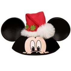 c469399537000 Amazon.com  Disney Store Disney Parks Christmas Santa Claus Mickey Mouse  Ears Hat (One Size)  Toys   Games