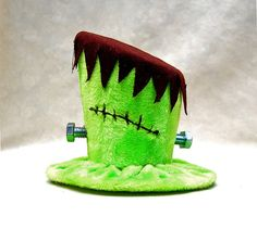 Tiny Top Hat: Frankenstein - Lolita Cosplay Costume Party Fascinator Photo Photography Prop Wedding Tophat Small Mini Miniature little