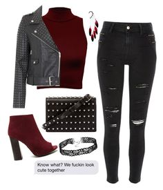 """""""Straight Out Of Suggested Items"""" by watermelonandmusyc ❤ liked on Polyvore featuring WearAll, French Connection, River Island, Alexander Wang and Anni Jürgenson"""
