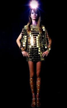 Francoise Hardy in Paco Rabanne, 1960s