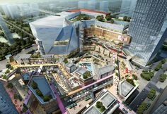 Joy City Hangzhou | Benoy | Retail Architecture Shopping Mall Architecture, Retail Architecture, Commercial Architecture, Futuristic Architecture, Architecture Design, Commercial Complex, Commercial Street, Mix Use Building, Building Design