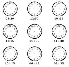 how to tell time worksheets - Google Search