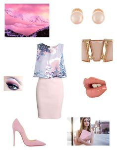 """intern chic"" by britill ❤ liked on Polyvore featuring Boohoo, Christian Louboutin, Kenneth Jay Lane, M&Co and Charlotte Tilbury"