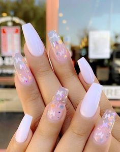 31 Awesome Acrylic Nail Designs Ideas for This Summer 2020 : Page 25 of 31 : Cr. 31 Awesome Acrylic Nail Designs Ideas for This Summer 2020 : Page 25 of 31 : Creative Vision Design Acrylic Nails Coffin Short, Simple Acrylic Nails, Pink Acrylic Nails, Gel Nails, Stiletto Nails, Pastel Nails, Acrylic Toes, Bright Summer Acrylic Nails, Purple Nails