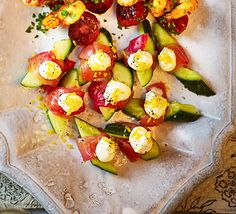 Salmon & cucumber twists