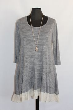 cool UMGEE EYELET TRIM TUNIC NEW WITH TAGS