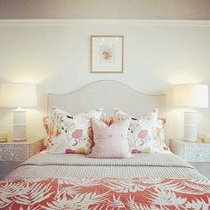 """""""This bright abode by Team SRD's Lindsay Mens Craig and Allison Willson is a great example of how you can create a warm, sunny atmosphere at home with cheery color and pattern!"""" —Sarah Richardson"""