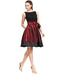 SL Fashions Sleeveless Pleated Side Bow Dress - Dresses - Women - Macy's