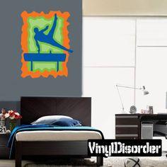 Gymnastics Wall Decal - Vinyl Sticker - Car Sticker - Die Cut Sticker - CDSCOLOR027