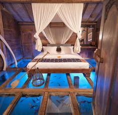 Lake Glass Bottom Bedroom
