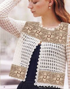 Crochet un très beau Gilet femme - La Grenouille Tricote Search from 3000 top Woman Crochet pictures and royalty-free images from iStock. Find high-quality stock photos that you won't find anywhere else Pull Crochet, Gilet Crochet, Crochet Jacket, Crochet Shawl, Free Crochet, Irish Crochet, Beau Crochet, Crochet Tops, Crochet Baby