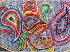 Paisley Hand embroidery   Flickr - Photo Sharing!
