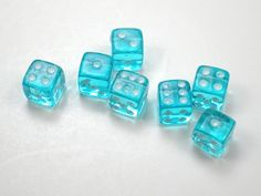Color Azul Turquesa - Turquoise!!! Dices