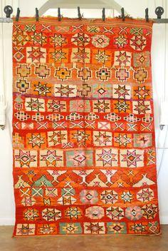 Inspiration:  - Vintage Moroccan boujad carpet