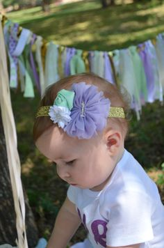 A personal favorite from my Etsy shop https://www.etsy.com/listing/481191867/lavender-mint-and-gold-first-birthday